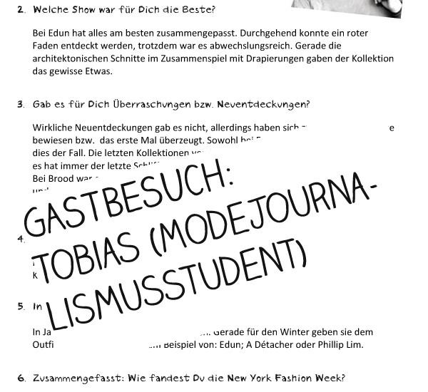 Gastbesuch Tobias